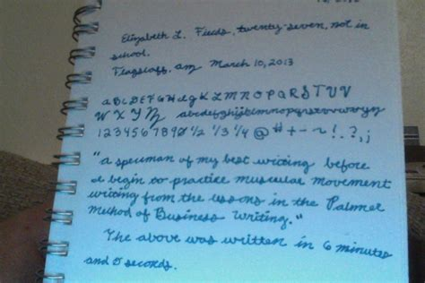 Learning The Palmer Method Of Business Writing  Page 7  Handwriting & Handwriting Improvement