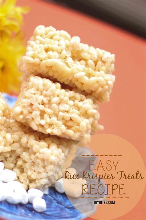 recipe for rice krispie treats easy rice krispies treats recipe joybites joybites
