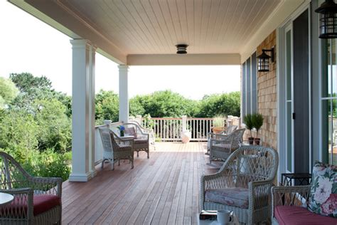 Welcoming back porch, coastal views.   Traditional   Porch
