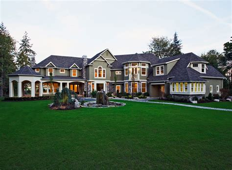 large luxury home plans craftsman style house plan 5 beds 5 5 baths 7400 sq ft