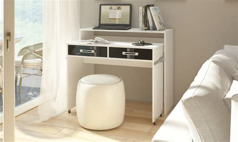bureau console extensible 2 en 1 bureau extensible groupon shopping