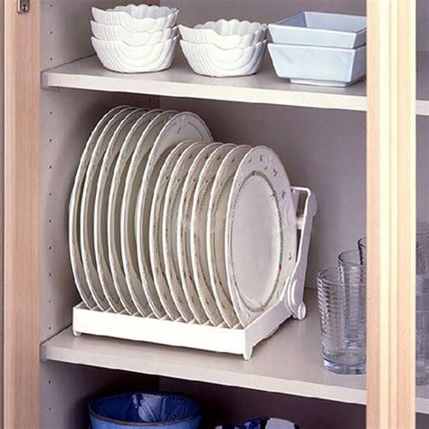 Foldable Dish Plate Drying Rack Organizer Drainer Plastic