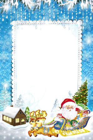 photo frames santa claus hurries  holiday