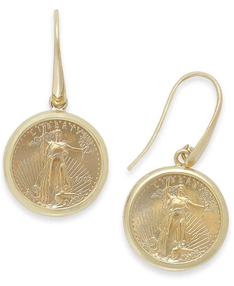 Macy's Genuine Us Eagle Coin Drop Earrings In 22k And 14k. Sterling Silver Bangle Bracelets. Bangle Earrings. Nickel Free Stud Earrings. Anklet Brands. Colorful Sapphire. Graff Watches. Jazz Bands. Pink Engagement Rings