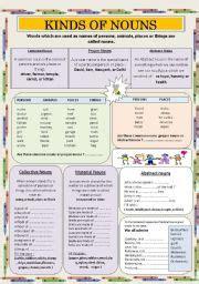 nouns esl worksheet by jhansi