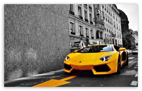 yellow lamborghini aventador  hd desktop wallpaper