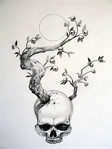 Dessin Tete De Mort Avec Rose : l 39 arbre t tes de mort gorg one ~ Melissatoandfro.com Idées de Décoration