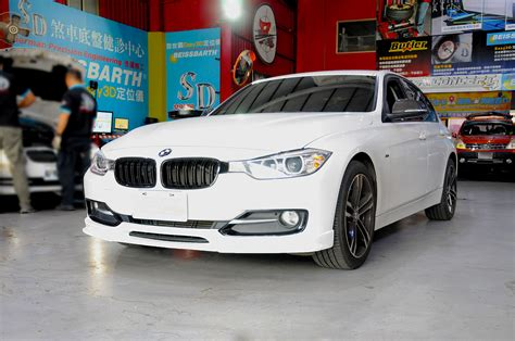 bmw stock front bumper  style front lip spoiler