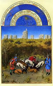 November Calendar Page French Court Art The Limbourg Brothers