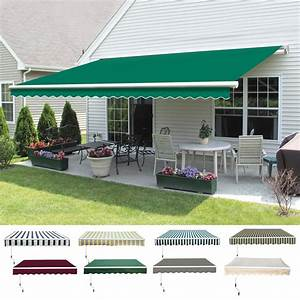 Manual Diy Patio Awning Outdoor Garden Canopy Sun Shade
