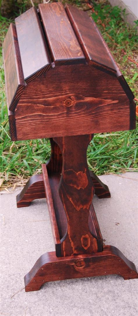 classic wood saddle stand  solid pine