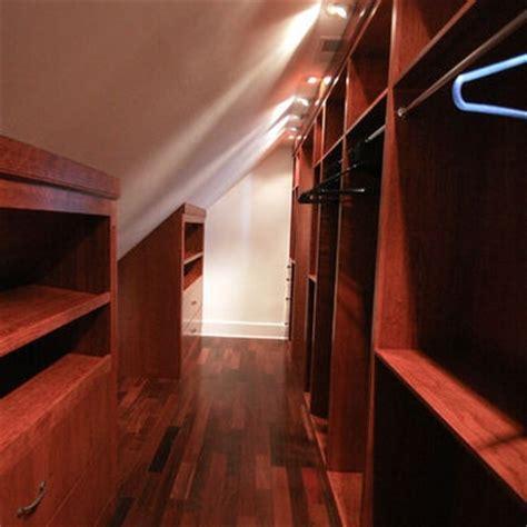 sloped ceiling narrow walk in closet cape cod cozy