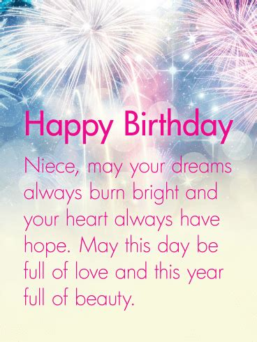 heart   hope happy birthday wishes card