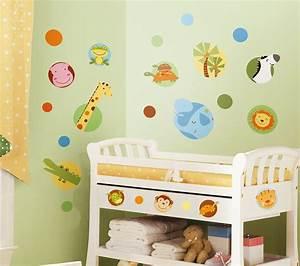 Wandtattoo Kinderzimmer Dschungel : roommates wandtattoo dschungel tiere polka dot www 4 ~ Orissabook.com Haus und Dekorationen