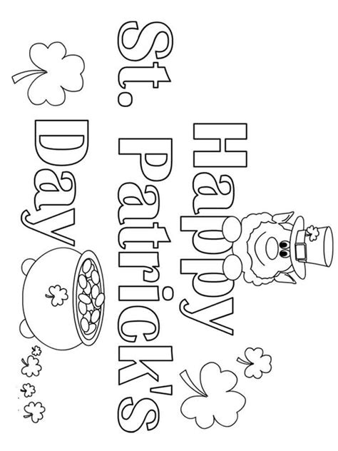 st patricks day coloring pages  printable st