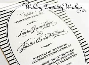 wedding invitation wording together with their parents With wedding invitation etiquette together with their families