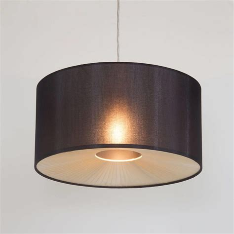 small ribbon easy to fit ceiling shade drum black from