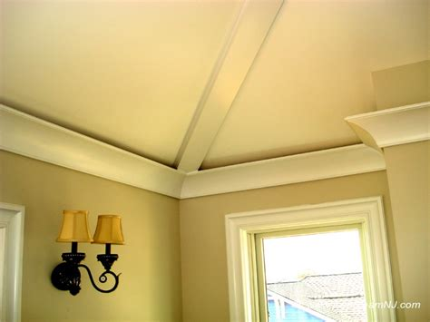 recessed ceiling crown molding crown molding on cathedral windows door and crown mouldings trim team nj
