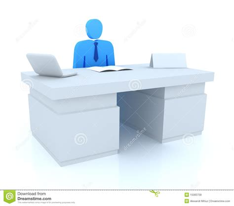 bureau am駭agement office manager and empty name tag stock illustration
