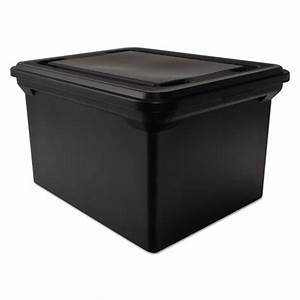 advantus 34052 file tote storage box w lid legal letter With letter legal size plastic storage tote