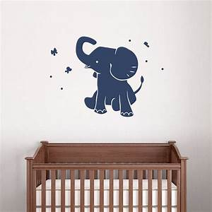 baby elephant wall decal vinyl decal sticker elephant wall With baby wall decals