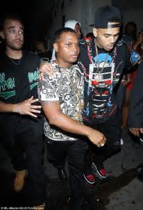 flat black lamborghini aventador chris brown is carried out of bet awards afterparty bleary