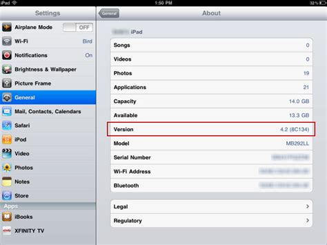 how to check iphone version 4