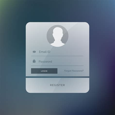 Modern Login Form User Interface Design Template