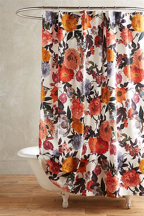 Floral Shower Curtains - agneta shower curtain anthropologie