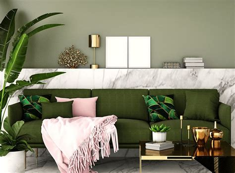 create the olive green living room wow 1 day