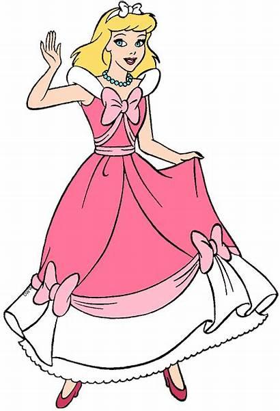 Cinderella Pink Clip Disney Princess Disneyclips Characters