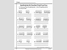 Handwriting Worksheets For First Grade Free Worksheets