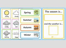 Weather And Season Calendar season, weather, calendar