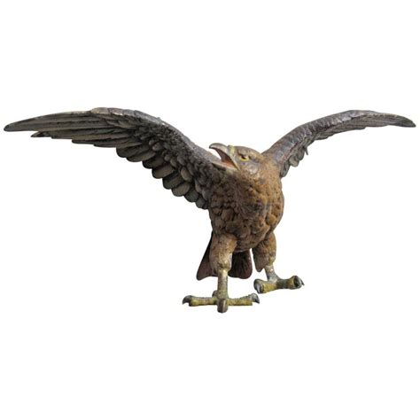 eagle sculptures for sale austrian cold painted bronze eagle sculpture in the manner of franz bergman for sale at 1stdibs