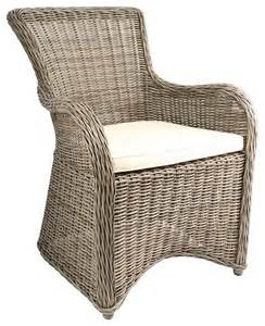krista outdoor armchair gray kubu rattan wicker contemporary outdoor lounge chairs by dcg