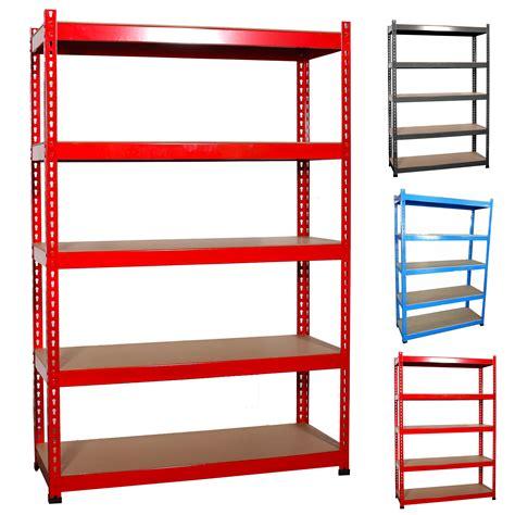 Garage Storage Racking Shelving by Heavy Duty 180h 120w 45d 5 Tier Boltless Garage Storage