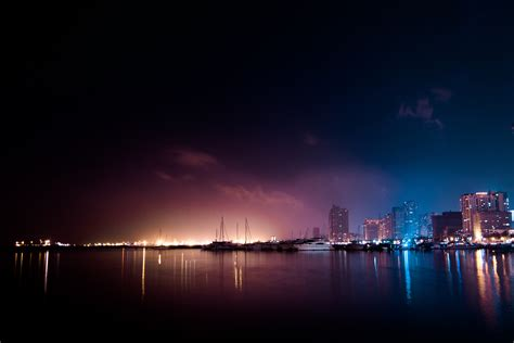 stock photo  city dark lights