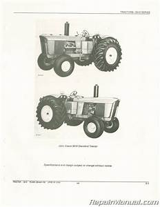 Used John Deere 5010 Tractor Parts Manual