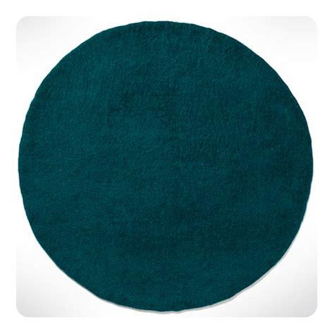 tapis rond bleu canard diam cm laurette