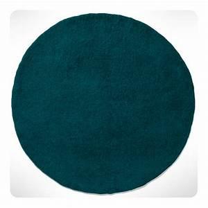 Tapis Rond Bleu Canard : tapis rond bleu canard diam 120cm laurette ~ Teatrodelosmanantiales.com Idées de Décoration