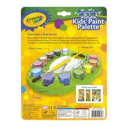 crayola washable paint palette 12 asst colors