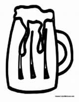 Coloring Beer Pages Adult Mug Drink Drinks Wine Colormegood sketch template