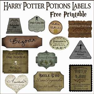 The gallery for --> Harry Potter Potion Label Template