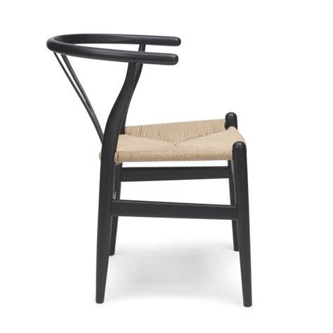 wood wishbone y chair black dining chairs