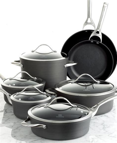 calphalon contemporary nonstick  piece cookware set cookware sets kitchen macys