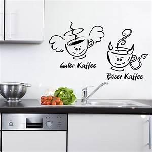 Wandtattoo Küche Bilder : kaffee engel teufel f r wohnzimmer k che wandtattoo sunnywall online shop ~ Sanjose-hotels-ca.com Haus und Dekorationen