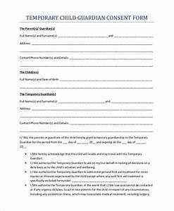 Sample Temporary Guardianship Form 10 Examples in PDF Word