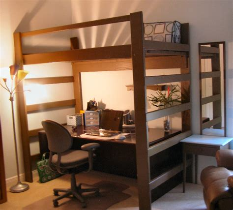 queen size desk bed queen size loft bed ikea home design ideas pinterest