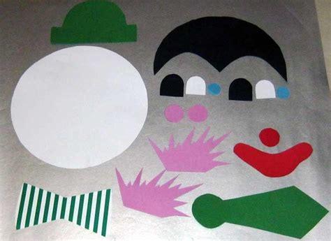bastelvorlage clown aus tonpapier selber basteln