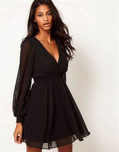 asos asos wrap dress with long sleeves at asos With robe longue cache coeur